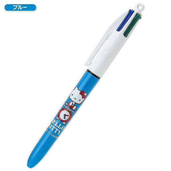 【真愛日本】15042100060 4C原子筆-KT&磅秤藍 三麗鷗 Hello Kitty 凱蒂貓 文具 書寫用具 正品 限量 預購