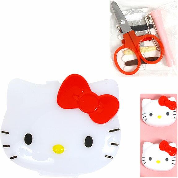 【真愛日本】15042100090 大臉收納盒-針線組紅結 三麗鷗 Hello Kitty 凱蒂貓 居家 裁縫 正品 限量 預購