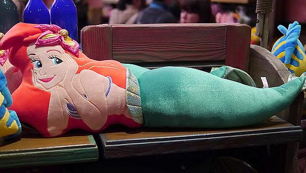 【真愛日本】15042100131 樂園限定造型抱枕L-艾莉兒小美人魚   迪士尼 小美人魚 The Little Mermaid 娃娃 玩偶 靠枕 正品 限量