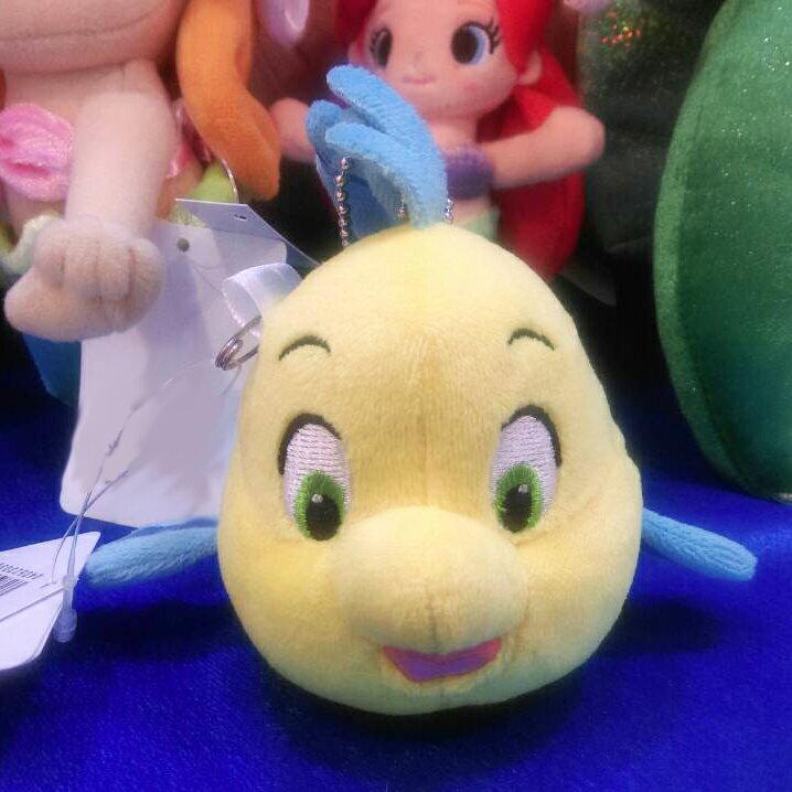 【真愛日本】15042100134 樂園限定鎖圈別針娃-小比目魚 迪士尼 小美人魚 The Little Mermaid 吊飾 飾品 娃娃 玩偶 正品 限量 預購