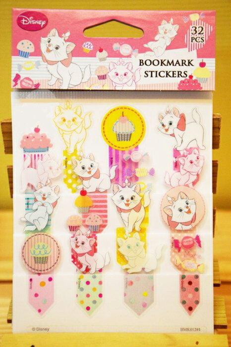 【真愛日本】15042200011 書籤貼紙-瑪莉貓 迪士尼 瑪莉貓 Marie cat 文具 正品 限量