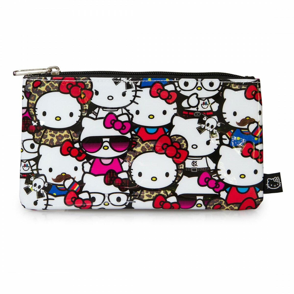 【真愛日本】15042800042 聯名LF防水萬用包-滿版變裝KT 三麗鷗 Hello Kitty 凱蒂貓 收納包 筆袋 正品 限量 預購