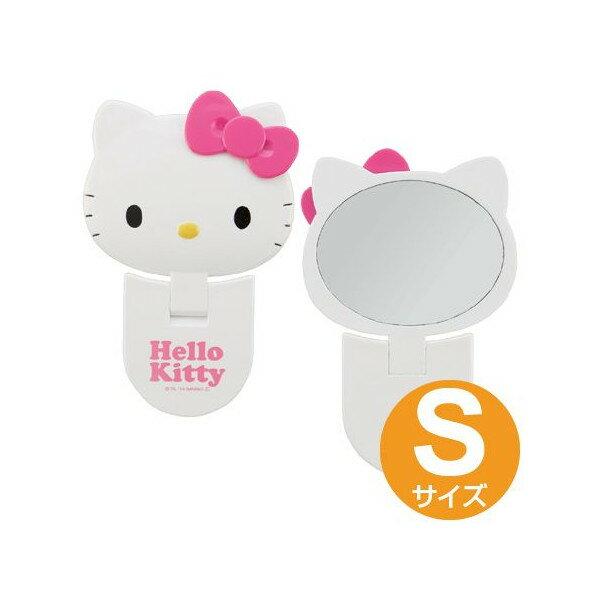 【真愛日本】15043000001 頭型摺疊手拿鏡S-大臉桃結 三麗鷗 Hello Kitty 凱蒂貓 化妝鏡 隨身鏡 正品 限量 預購