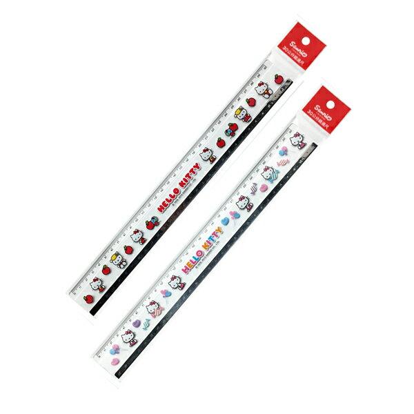 【真愛日本】15050500008 30cm鐵邊長尺-蘋果紅 三麗鷗 Hello Kitty 凱蒂貓 文具 正品 限量 預購