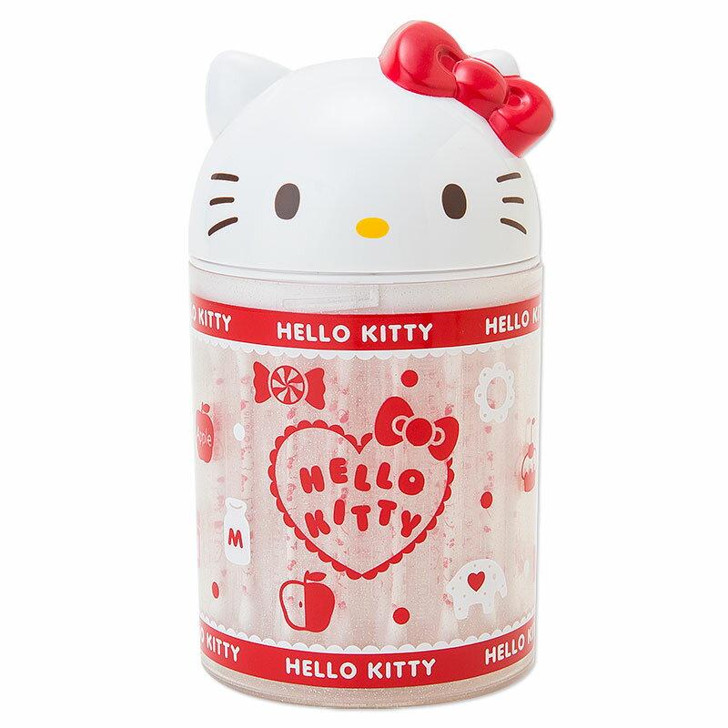【真愛日本】15050900012 立體頭收納罐-APPLE 三麗鷗 Hello Kitty 凱蒂貓 居家 棉花棒罐 正品 限量 預購