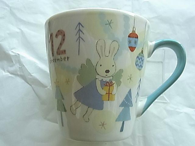 *le sucre la creme法國兔*15051500031 日本製月份馬克杯Ⅳ-12月 戶崎尚美 杯子 水杯 茶杯 正品 限量 預購