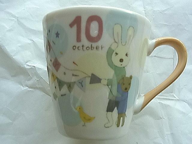 *le sucre la creme法國兔*15051500035 日本製月份馬克杯Ⅳ-10月 戶崎尚美 杯子 茶杯 水杯 正品 限量 預購