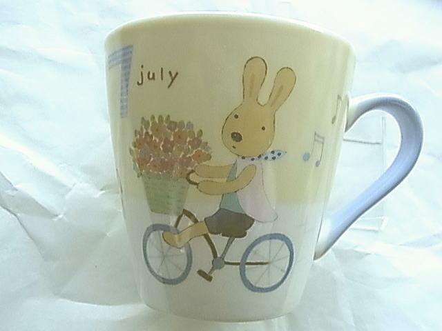*le sucre la creme法國兔*15051500036 日本製月份馬克杯Ⅳ-7月 戶崎尚美 杯子 水杯 茶杯 正品 限量 預購