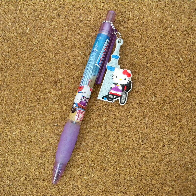 【真愛日本】15051700064 限定原子筆-拉車晴空塔 三麗鷗 Hello Kitty 凱蒂貓 文具 書寫 正品 限量 預購