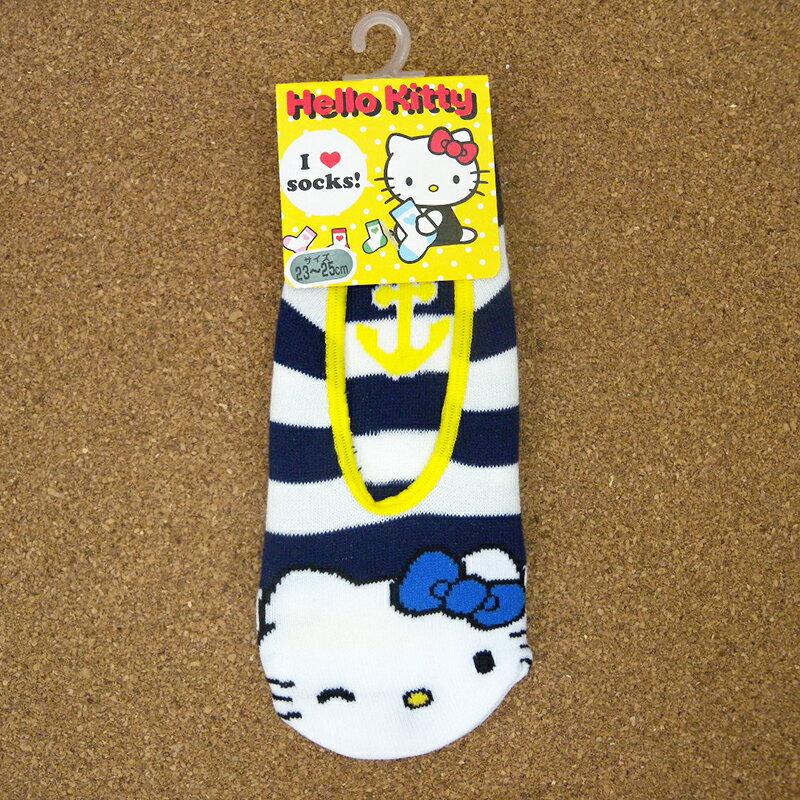 【真愛日本】15051800021 船型棉襪-海軍藍條紋 三麗鷗 Hello Kitty 凱蒂貓 居家 襪子 正品 限量 預購