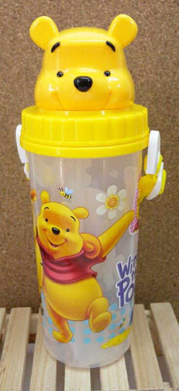【真愛日本】15051800033 頭型吸管水壺-維尼 迪士尼 小熊維尼 POOH 維尼熊 水瓶 正品 限量 預購