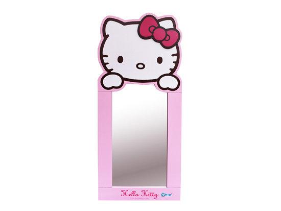【真愛日本】15052900001 KT造型直立鏡(粉)-小 三麗鷗 Hello Kitty 凱蒂貓 鏡子 正品 限量