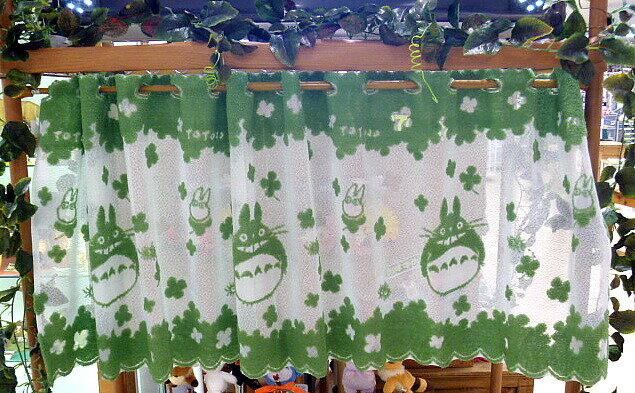 【真愛日本】15053000019短門簾-森林和善龍貓綠 龍貓 TOTORO 豆豆龍 居家 擺飾 正品 限量 預購
