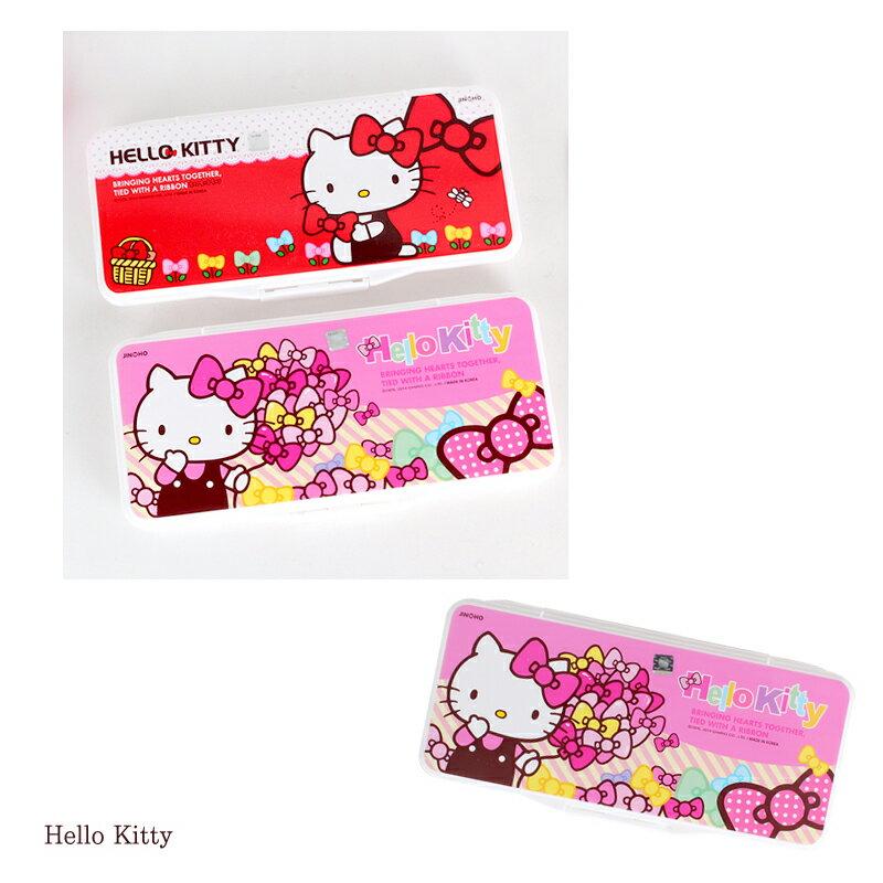 【真愛日本】15060200005合蓋式調色盤附海綿-粉 三麗鷗 Hello Kitty 凱蒂貓 文具 水彩盤 正品 限量 預購