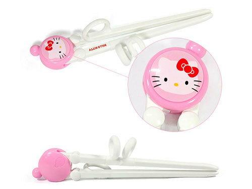 【真愛日本】15060200007輔助練習筷-大臉粉白 三麗鷗 Hello Kitty 凱蒂貓 餐具 筷子 正品 限量 預購