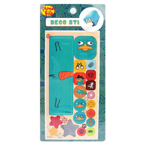 【真愛日本】15060400008  裝飾貼紙-泰瑞 迪士尼 飛哥與小佛 鴨嘴獸泰瑞 手機周邊 正品 限量