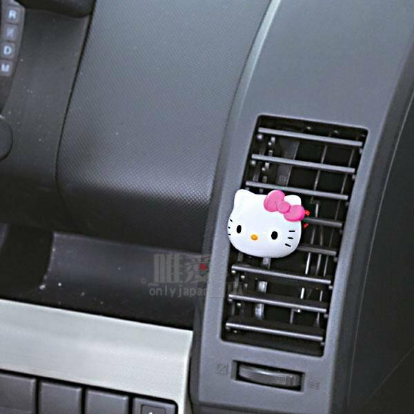 【真愛日本】12020600042 頭型車用芳香劑2入-粉結三麗鷗 Hello Kitty 凱蒂貓 日本帶回