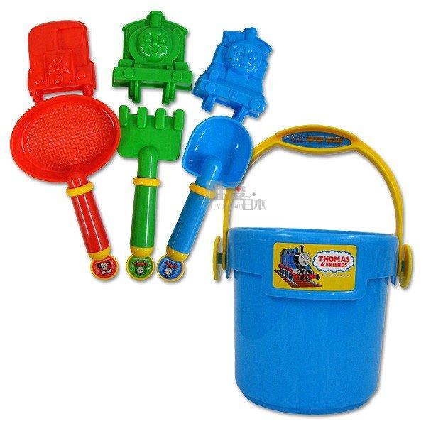 【真愛日本】12022400073 兒童沙堆桶裝玩具附袋 THOMAS 湯瑪士小火車手提袋鏟子水桶桶子