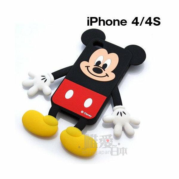 真愛日本:*唯愛日本*12041800004iP4S立體造型殼-MK迪士尼米老鼠米奇iPhone殼手機殼正版精品
