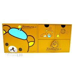 【真愛日本 】 12061500010 4格抽屜置物盒 SAN-X 懶熊 懶妹 奶妹 奶熊 收納盒 家具 文具用品 正品