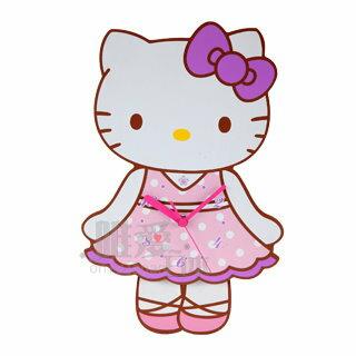 【真愛日本】13032800032 木製搖擺造型掛鐘-全身 三麗鷗 Hello Kitty 凱蒂貓 造型時鐘 正