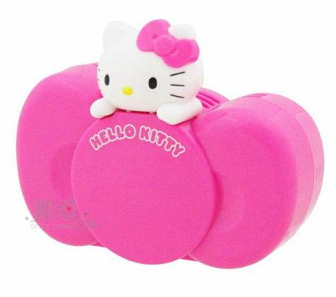 【唯愛日本】13061700002 車用芳香劑-蝴蝶結桃 三麗鷗 Hello Kitty 凱蒂貓 汽車芳香 正品