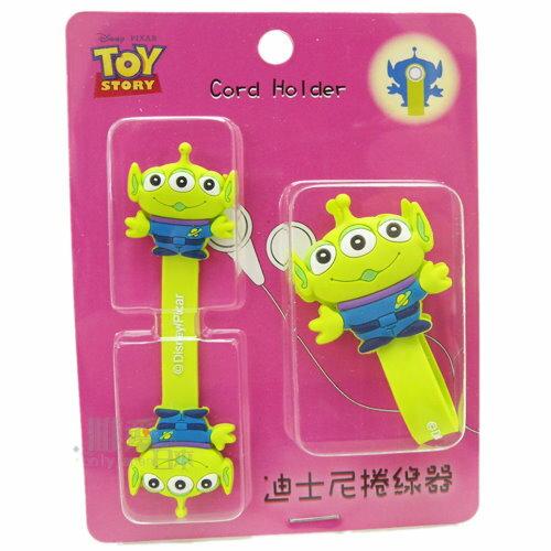 【唯愛日本】13062100032 造型捲線器-三眼怪 迪士尼 玩具總動員 集線器 收線器