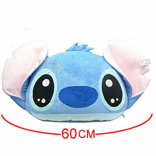 【唯愛日本】13081500003 史迪奇頭型抱枕-水汪眼L60CM 星際寶貝 史迪奇 靠枕 坐墊 正品