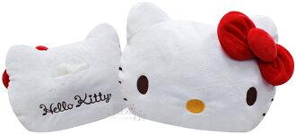 【唯愛日本】13082100004 大臉紅結面紙套 三麗鷗 Hello Kitty 凱蒂貓 面紙盒 衛生紙盒