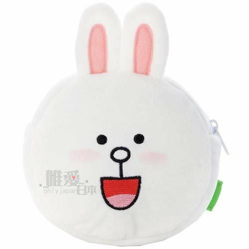 【唯愛日本】13112100010 臉型拉鍊包-兔子 LINE公仔 饅頭人 兔子 熊大 零錢包 化妝包 正品