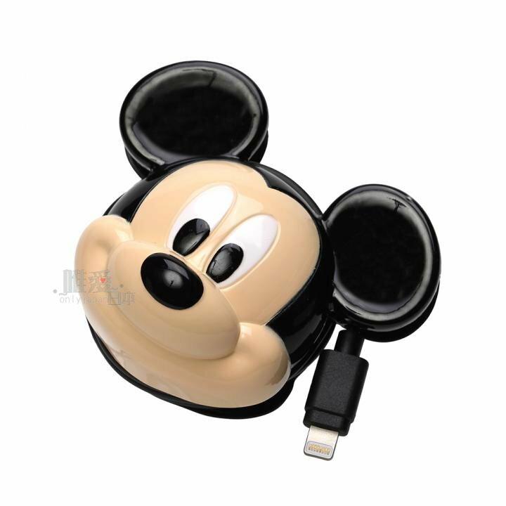 【唯愛日本】13120200001 iphone充電器-立體大頭 迪士尼 米奇 米妮 iphone5造型充電器