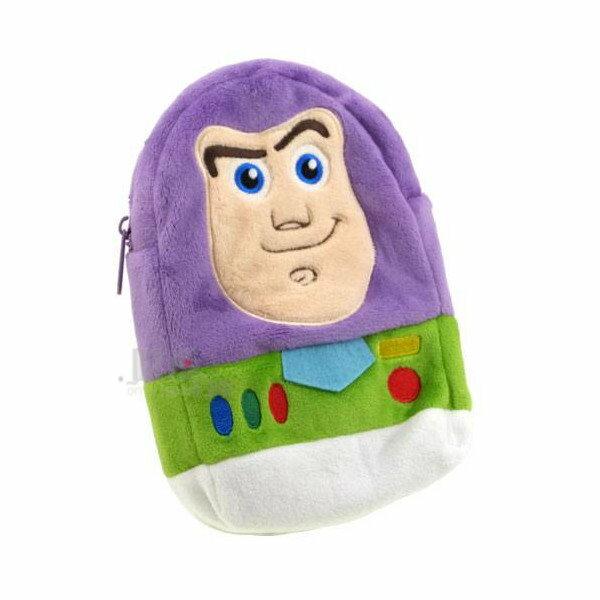 【唯愛日本】 13121400087 造型絨布拉鍊包-巴斯光年 迪士尼 玩具總動員 零錢包 化妝包 正品