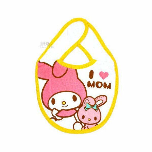 【唯愛日本】13121500054 圍兜兜-MM與兔兔 三麗鷗家族 Melody 美樂蒂 嬰兒口水巾 正品