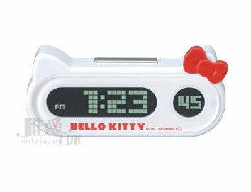 【唯愛日本】10041400019LED時間造型鐘 三麗鷗Hello kitty 凱蒂貓 時鐘 汽車用品