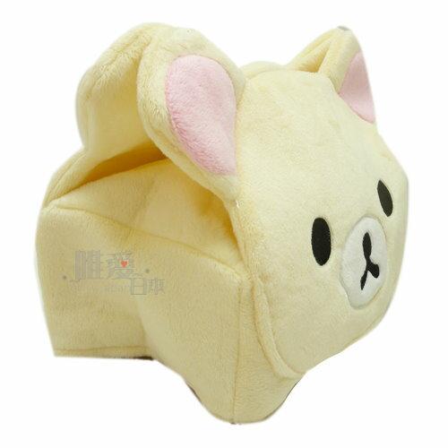 【唯愛日本】14011100004 拉拉熊頭型面紙套-奶熊 SAN-X 懶熊 奶妹 奶熊 面紙套 客廳用品 正品