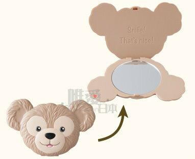 【唯愛日本】14012500035 立體頭型折鏡-達菲 Duffy 達菲熊&ShellieMay 化妝鏡 東京限定