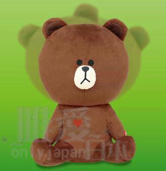 【唯愛日本】 14030400024 搖頭張手坐姿娃-熊大 LINE公仔 饅頭人兔子熊大 絨毛抱枕 娃娃 景品