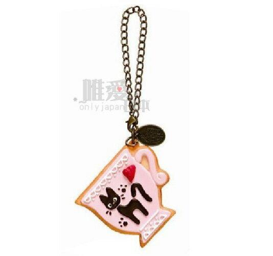 【宮崎駿會館】14032700044 造型鎖圈鏡-手做餅乾咖啡杯 魔女宅急便 黑貓 奇奇貓 鑰匙圈 吊飾
