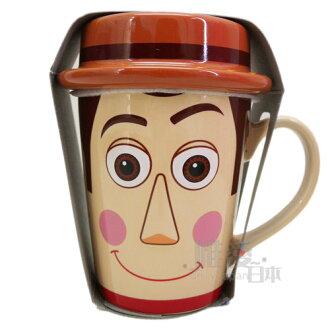 【真愛日本】14101000035 樂園限定馬克杯附蓋-胡迪大頭 迪士尼專賣店 玩具總動員 咖啡杯 下午茶杯