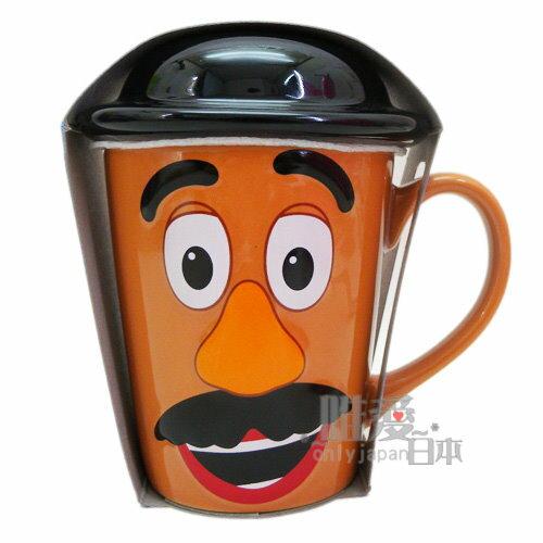 【真愛日本】14101000036 DN馬克杯附蓋-蛋頭大頭  迪士尼專賣店 咖啡杯 下午茶杯