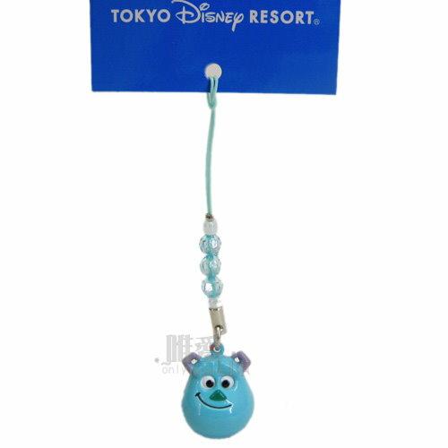 【唯愛日本】14032800065 限定DN鈴鐺頭根付-毛怪 迪士尼 玩具總動員 怪獸電力公司 手機吊飾