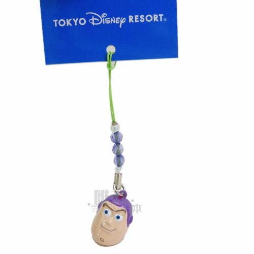 【唯愛日本】14032800066 限定DN鈴鐺頭根付-巴斯 迪士尼 玩具總動員 怪獸電力公司 手機吊飾