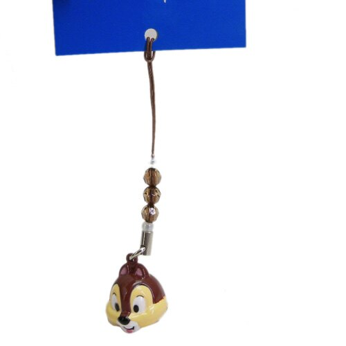 【唯愛日本】14032900025 限定DN鈴鐺頭根付-奇奇 迪士尼專賣店限定 手機吊飾 鎖圈 正品
