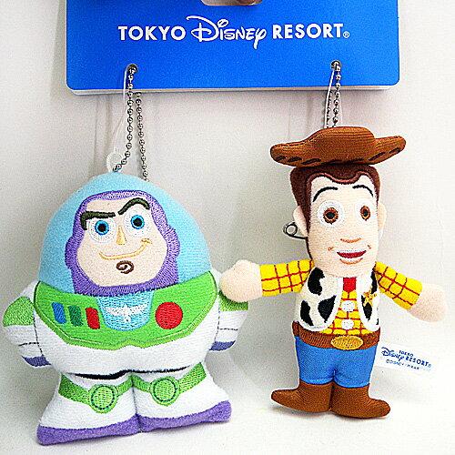 【唯愛日本】14032900045 2入DN娃鎖圈別針-巴斯胡迪 迪士尼專賣店限定 鑰匙圈 日本帶回