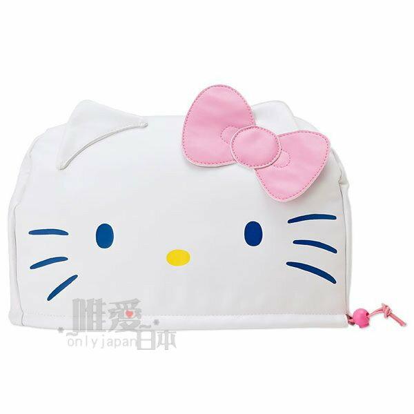 【唯愛日本】14041100033 車用座椅頭套-蘋果白 三麗鷗 Hello Kitty 凱蒂貓 汽車用品