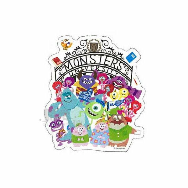 【唯愛日本】14051000026 防水貼紙-MU全人物 迪士尼 怪獸電力公司 車用貼紙 壁紙 玻璃貼紙