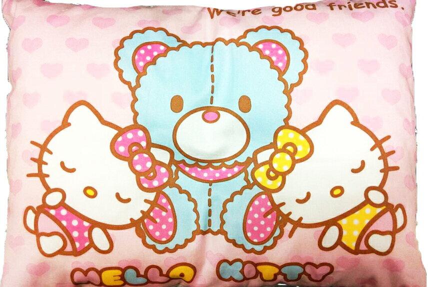 【真愛日本】7070600020 寶寶枕-與小熊睡覺 三麗鷗 Hello kitty 凱蒂貓 嬰兒枕頭 睡枕 安眠枕