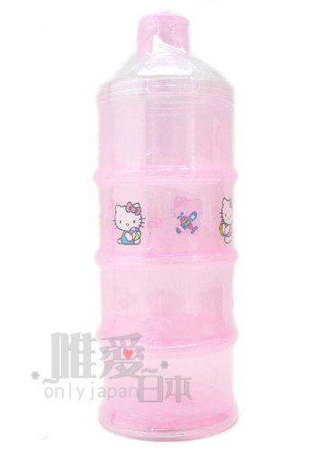 【真愛日本】6030900018  幼兒四層奶粉盒粉  三麗鷗 Hello kitty 凱蒂貓 奶粉收納盒 台灣製
