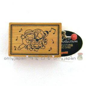 【真愛日本】6030200026手搖木盒音樂鈴-貓公車  宮崎駿 龍貓 TOTORO 音樂鈴 音樂盒 收藏 稀有