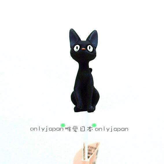 <宮崎駿會館>6091900007魔女宅急便黑貓奇奇貓造型立體花叉花插用品